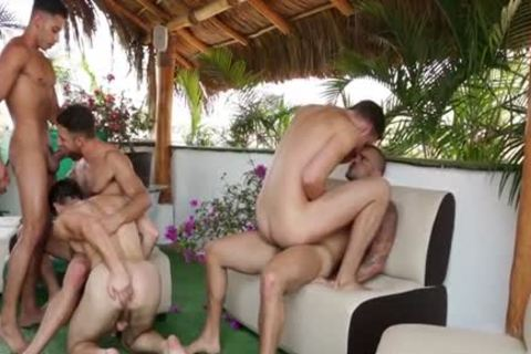 large bunch Of Sizzling homosexuals Go Keister To Face gap And Go All The Way Some Great Cumshots