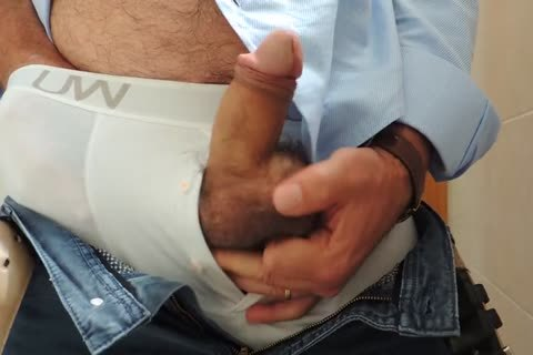 Teasing And stroking A wonderful Tool With Precum In Some White Boxer underclothing