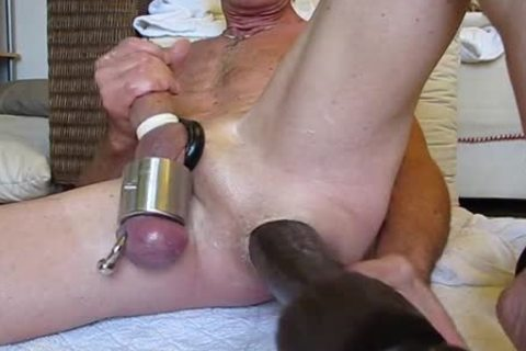 monstrous dildo and toys in  gaping hole