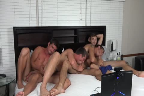 A couple AND TWO friends fucking ON web camera