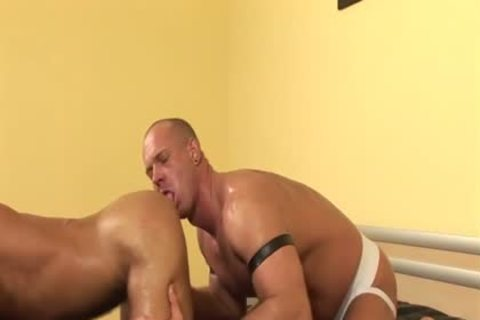 The sexy doctor gives his hunk patient a handjob