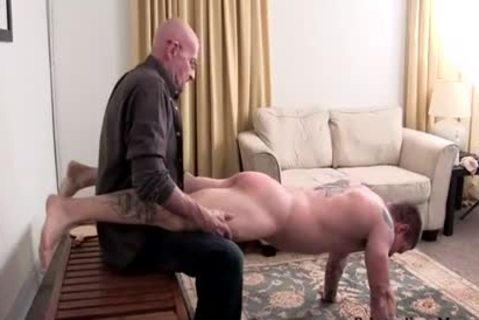 Muscle dilettante thrashing With cumshot