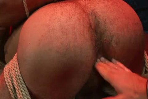 kinky gay bound And anal semen flow