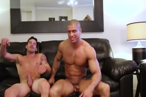 Muscle Son hardcore anal job With penis juice flow