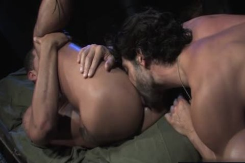 Large wang military anal with cumshot
