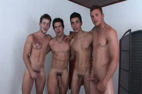 Four friends In A gangbang bang