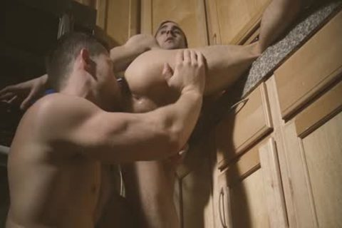 Muscle wolf dp with ejaculation