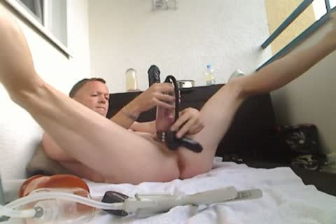 Pumping My cock And ass, sextoy bang