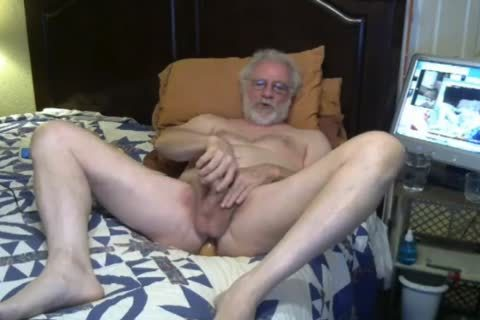 old man stroke And Play On webcam