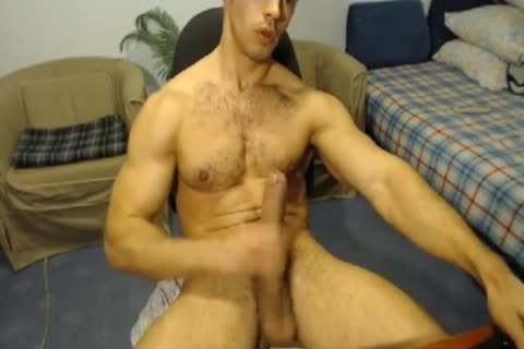 pumped up Hunk With A Horse rod Jerks Off And Cums
