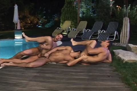Uncut knob Pool Party Scene 4