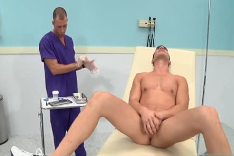 large dick Doctor three-some With cumshot