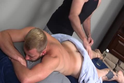 7a hairy Muscle Massage With ass plug