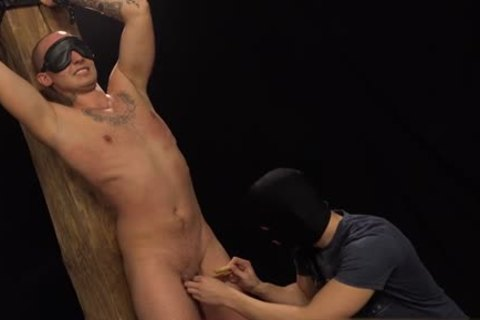 Tattoo homosexual trio and facial cum