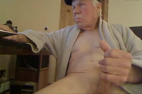 old man wank On webcam