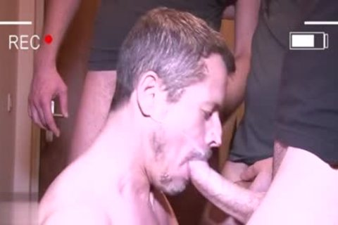 Muscle gay oral joy with facial
