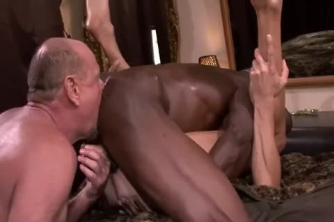 Interracial older 3some
