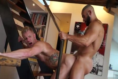 Muscle homo sex party with spooge flow