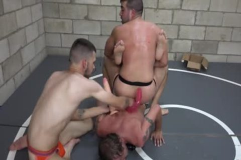 Lusty men wrestling