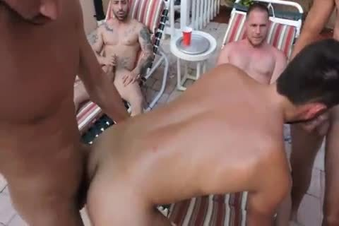 Owen's Poolside group-sex Ft. Trey Turner, Hans