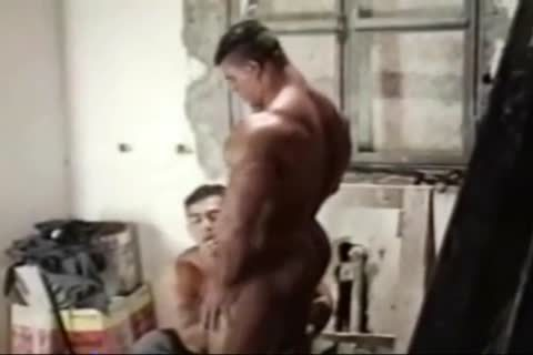 Brasil Bodybuilders massive anal banged By Hunk