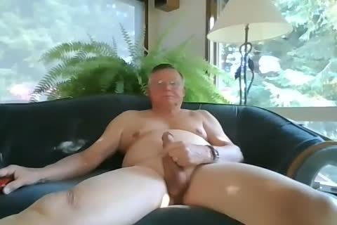 grandad wank On webcam
