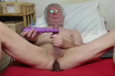 grandad stroke On web camera