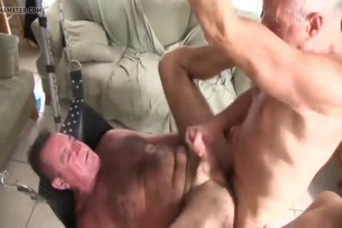 bushy Chest Daddy's bare gangbang