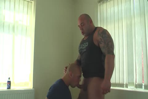 Muscle Daddy Glazing Sons hole unprotected