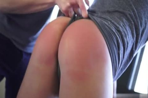 Juicy man spanked hard