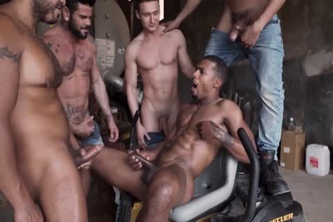 Four fellows Take On One Mans ass And Him