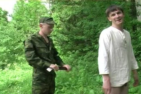 Two Military Males acquire oral stimulation job