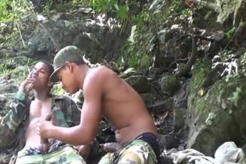 Brazilian Recruits In The Forest