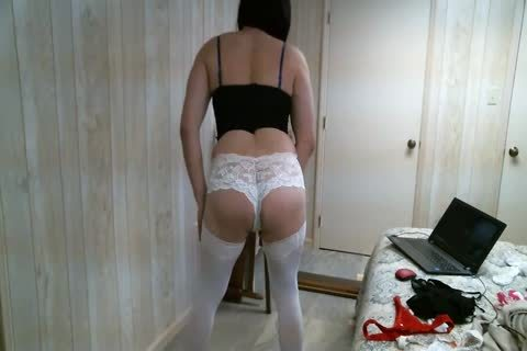 Crossdresser Trying On Different panties three