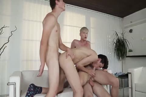 naked Back twink orgy & gang plow