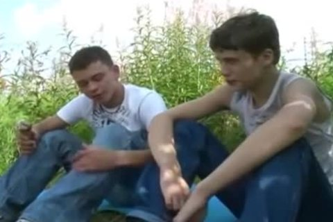 Straight amateur legal age teenagers pounded outdoor