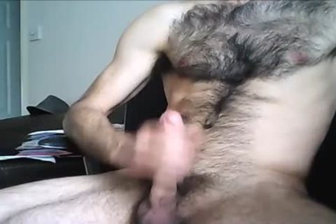 hairy Hung man discharges A large Load