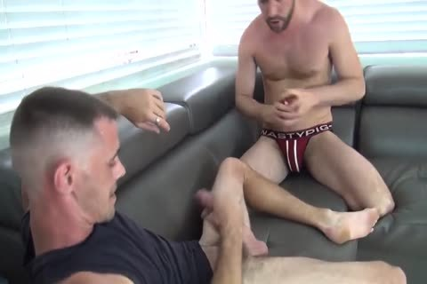 Jason is deep throating a cock