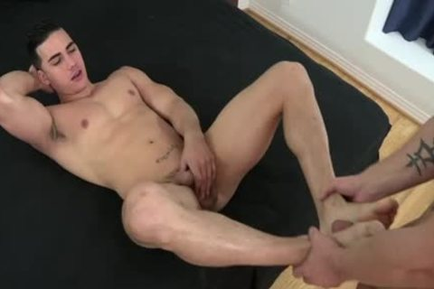 Muscle gay Foot With Facial