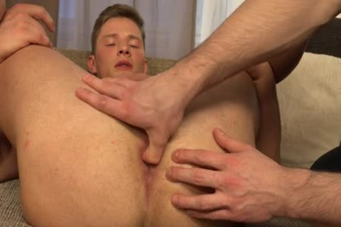 Muscle gay Rimjob With ejaculation