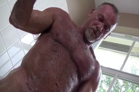 charming Muscle Daddy Mikey Shower jerk off   cum