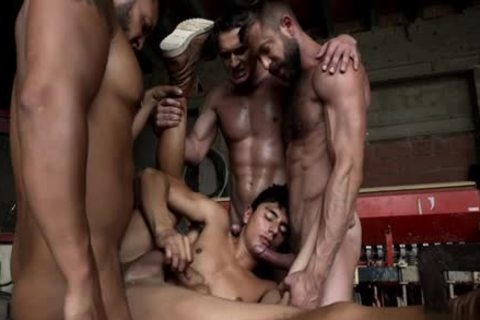 large pecker homo Dap And Facial