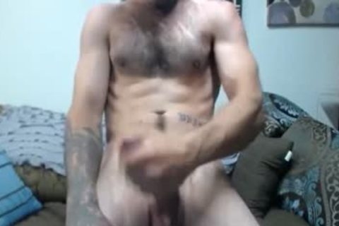 Hung hairy gay fellow On webcam