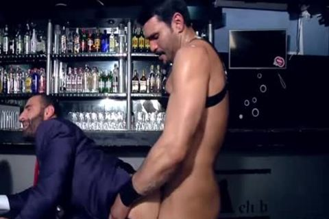 Charming homosexual fetish and cumshot