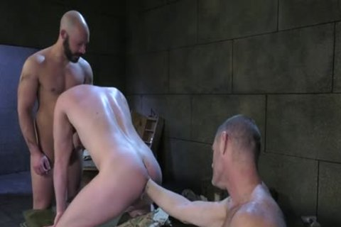 Wild military fetish with ejaculation