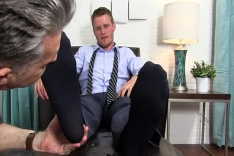 Muscle homo foot with ejaculation