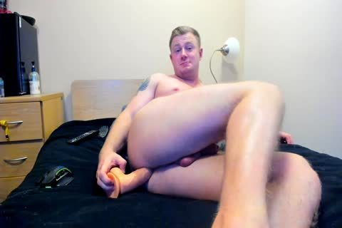 meaty British guy Plays With sex dildo On cam