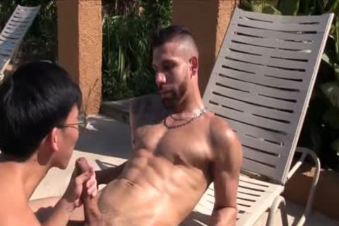 Latino Pimp fucks fine asian twink