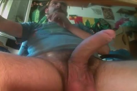 Gay bear eats hairy ass and cock