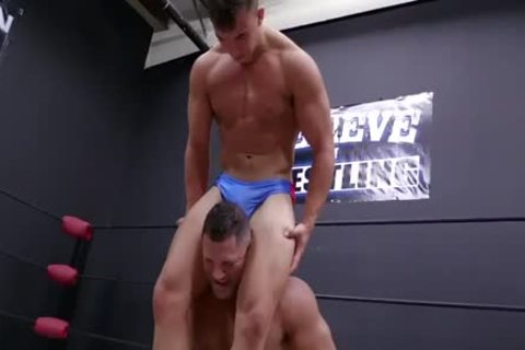 Daddy And Son Wrestling! Daddy Is So dirty In Minimal Speddo, not quite A belt